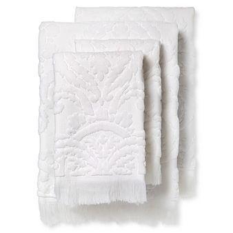 Montfort Textured Bath Towel Set of 4 White - Fable®