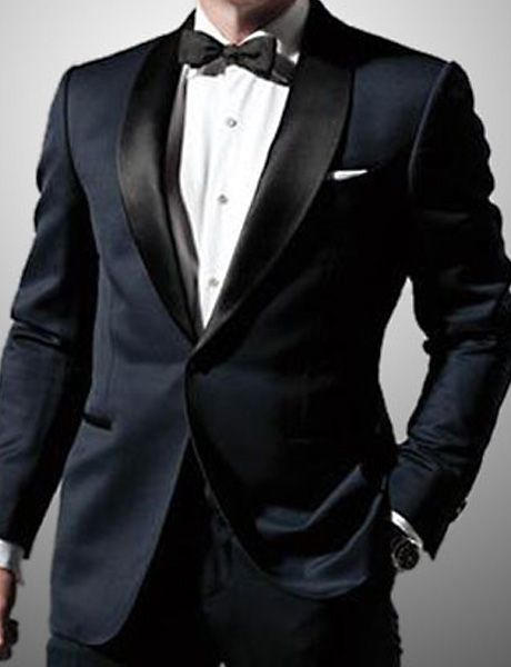 Jb Midnight Blue Tuxedo Suit James Bond Wedding Tuxedo