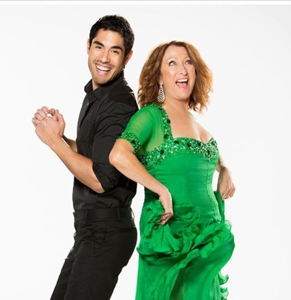 Lynne (Irene Roberts) & Tai (Andy Barrett) appearing on DWTS Aus 2014