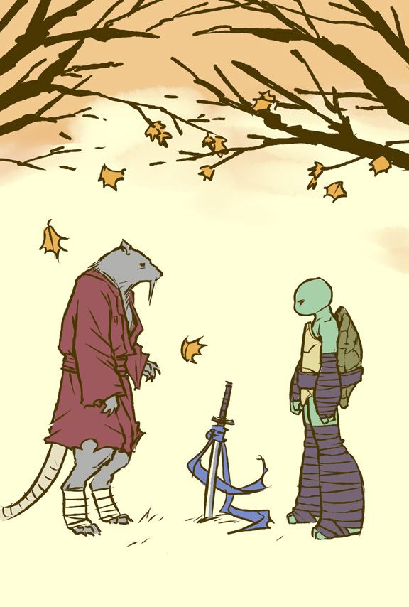 still by mooncalfe -Teenage Mutant Ninja Turtles - Splinter and Leonardo