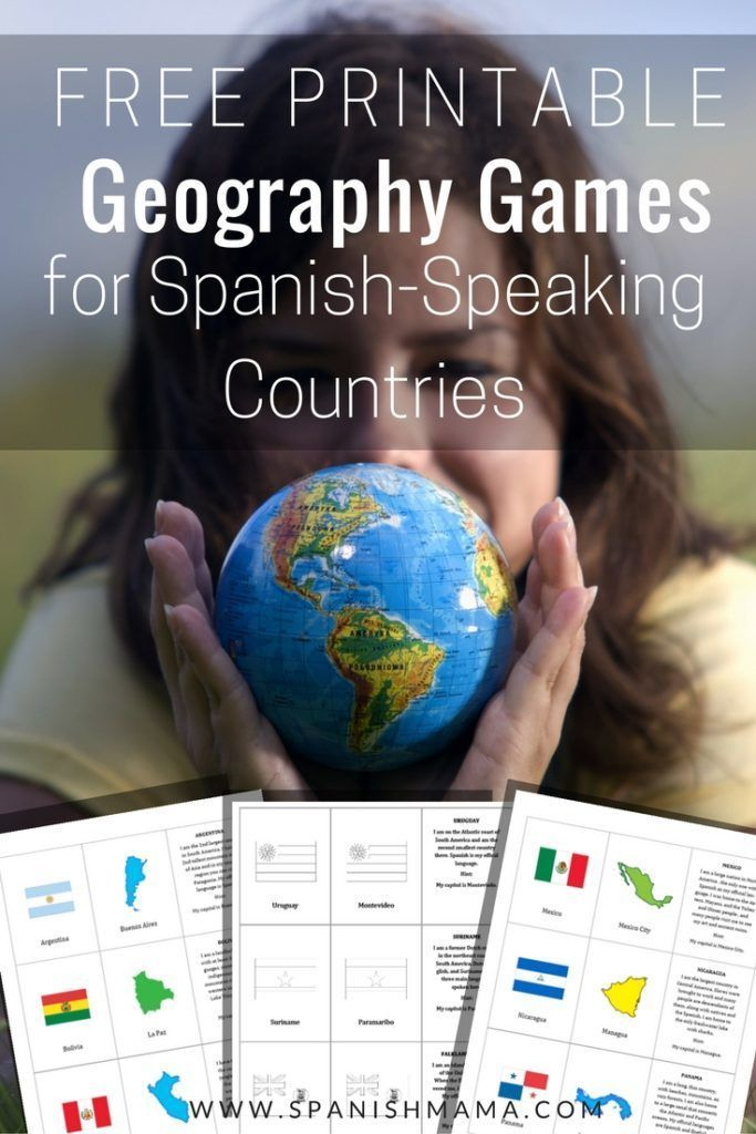North And South America Blank Map Quiz%0A Printable SpanishSpeaking Countries and Capitals Game Cards  Easy  fun way  to learn