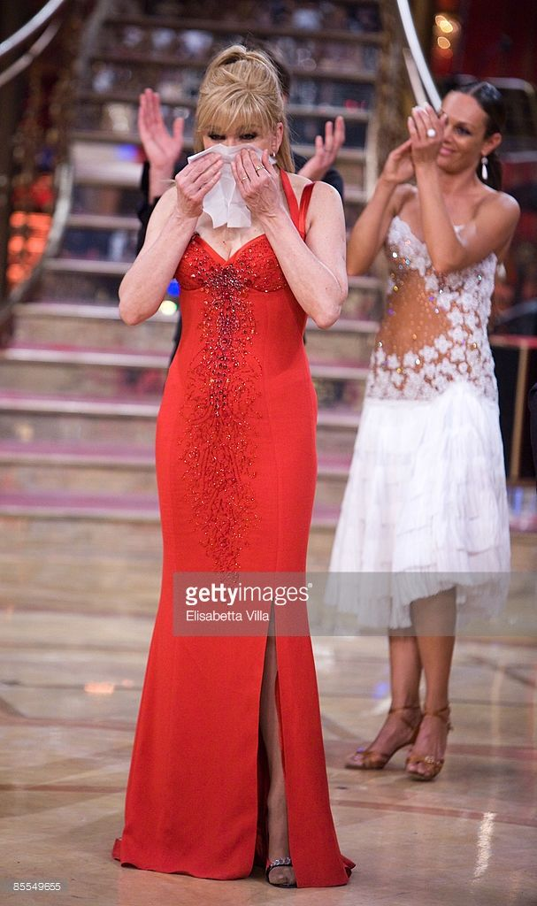 Presenter Milly Carlucci attends the final of ''Strictly Come Dancing'' (Ballando con le stelle) tv show on March 21, 2009 in Rome, Italy.