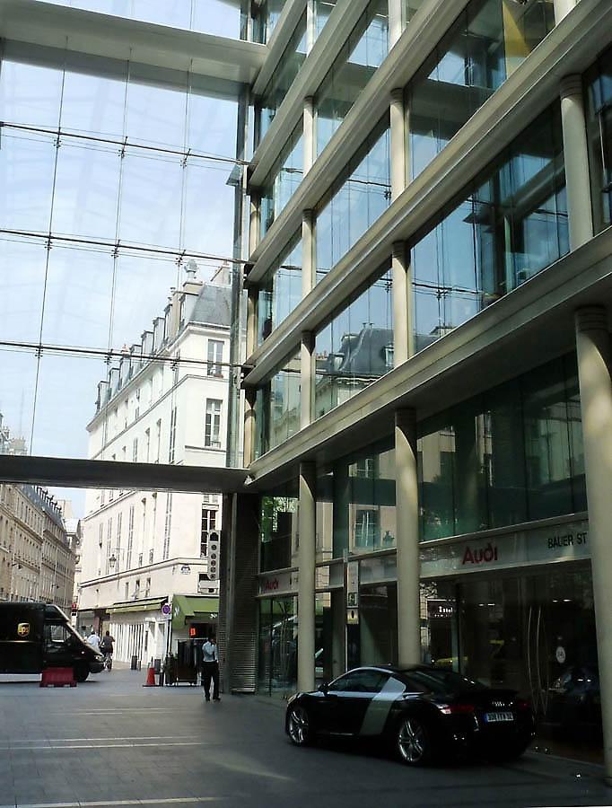 Shopping centre & offices  (Ricardo Bofill, 1997), Place du marché Saint Honoré, Paris I