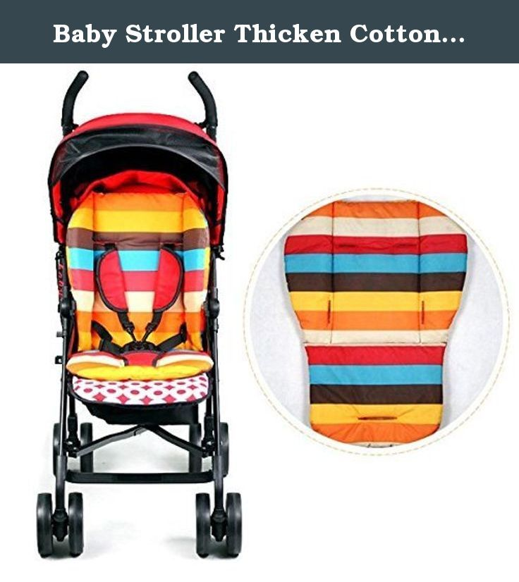 Baby Stroller Thicken Cotton Mat Stripe Cushion Seat Pad BB Car Accessory. Description : Baby Stroller Thicken Cotton Mat Stripe Cushion Seat Pad BB Car Accessory This Stroller Pad is made from cotton and oxford, comfortable, breathable. By absorbing sweat on baby skin, help to recover normal temperature. Thicken and waterproof mat, prevent baby pee from hurting tender skin. Both sides are can be used and all with lovely rainbow color. Suitable for a variety of baby strollers, safety…