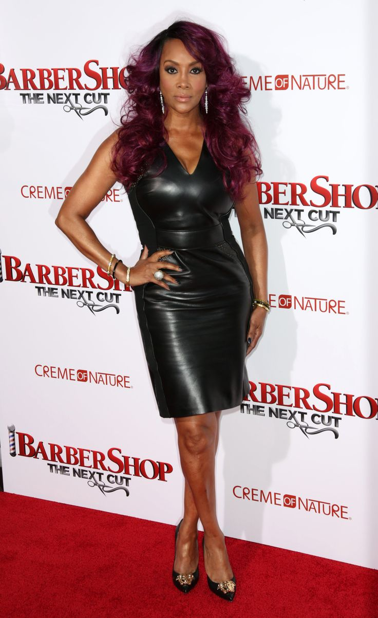Vivica wrap dress - Vivica A Fox Attends The Premiere Of Barbershop The Next Cut At