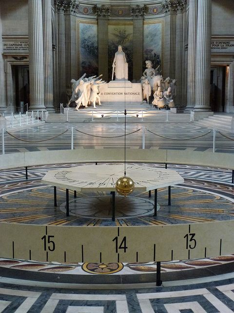 "Foucault's Pendulum - Pantheon, Paris. U. Eco's book (""Foucault's Pendulum) is a mind-blowing experience"