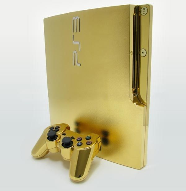 24kt Gold Playstation 3 Slim ► http://www.only4realmen.com/?p=26364