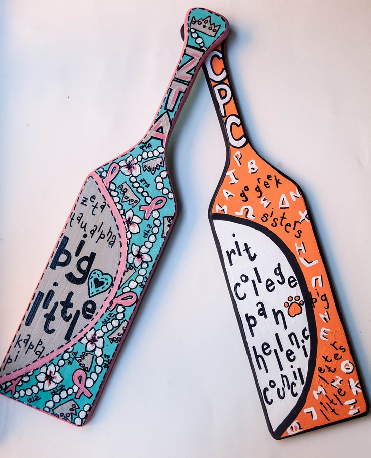 17 best images about painted paddles and letters on for Greek letters paddles store