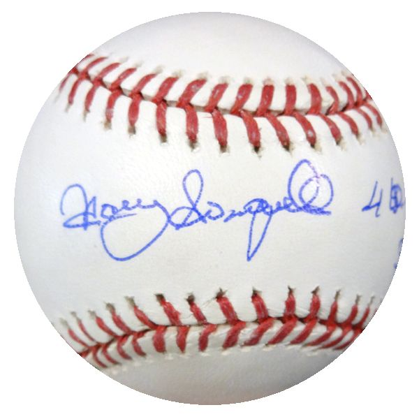 """Manny Sanguillen Autographed Official MLB Baseball Pittsburgh Pirates """"""""4 WSC 3 All Star Game"""""""" JSA #F88826"""