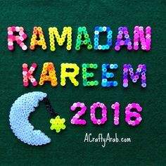 A Crafty Arab: Ramadan Kareem 2016 / 1437 and Perler Crescent Moon. Ramadan Kareem to those that celebrate. May you have many blessings this month. Today begins our 30 day Ramadan crafty challenge and our family can't be happier we get to share our blessed month with you. We've got some great activities planned for you to kick off our 6th year of doing this …