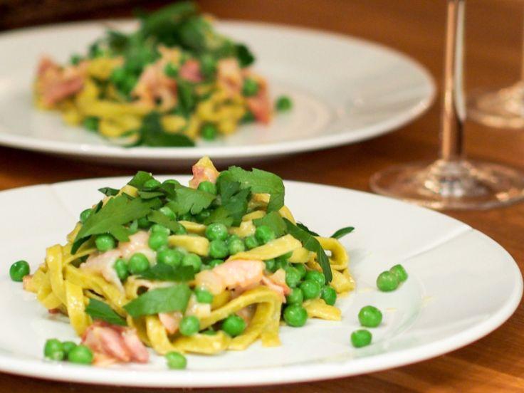I Skandinavia lages pasta carbonara med bacon, fløte, egg og parmesanost. Sikkert godt, men ikke ...