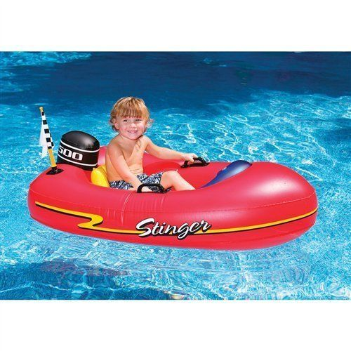 Speed Boat Inflatable Float Kids Ride On Speedboat Red Water Swimming Pool New Kids