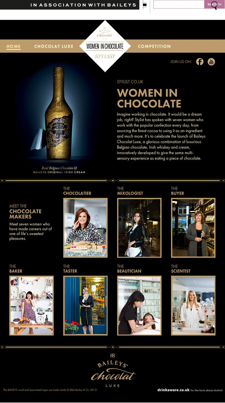 Baileys Chocolat Luxe for Stylist Magazine uses award winning design to introduce this new flavour of Irish Cream