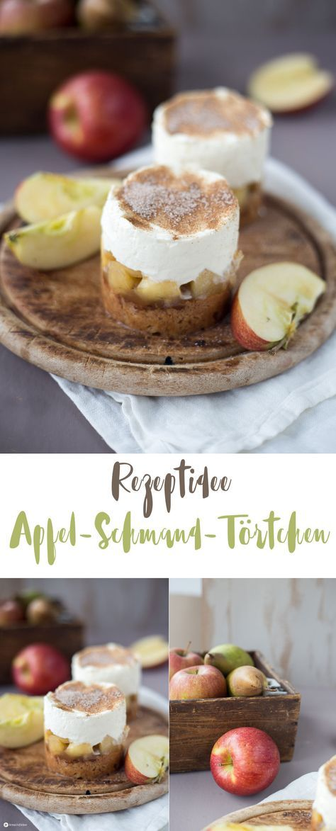 Apfel-Schmand-Törtchen mit Haselnussboden - einfaches Winterrezept - Backideen auf Kreativfieber