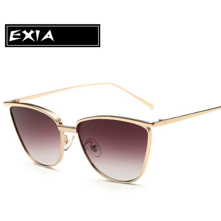 ==> [Free Shipping] Buy Best Gradient Brown Sunglasses for Women with Gold Color of Frame Alloy EXIA OPTICAL KD-0741 Series Online with LOWEST Price | 32789789393