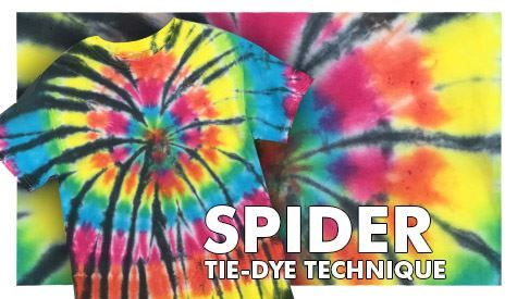 Follow these easy steps for the spider tie-dye technique