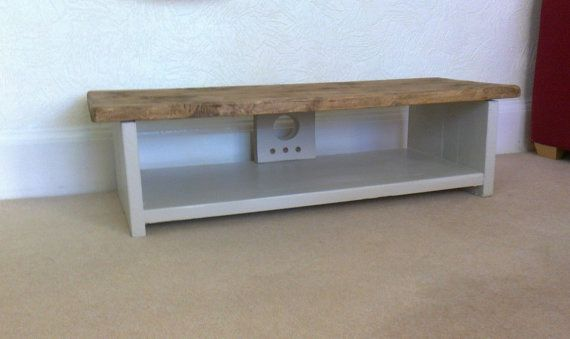 Low rustic pine Plasma lcd TV stand unit by Redcottagefurniture