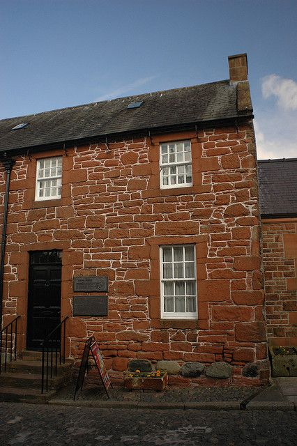 Home of Robert Burns, Dumfries, Scotland. Robbie Burns is celebrated every year by the cutting of the haggis & the recitation of one of his poems.