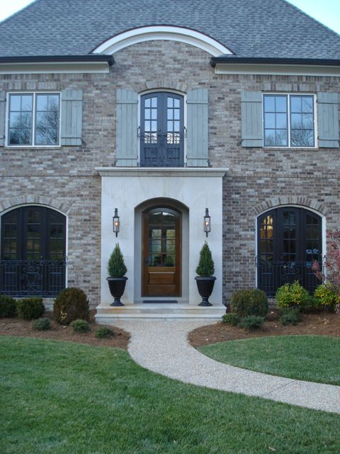Stockett Creek French Manor House Entry Castle Homes