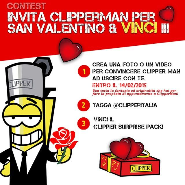 Contest CLIPPER ITALIA San Valentino 2015 Instagram!  #clipper #clipperitalia