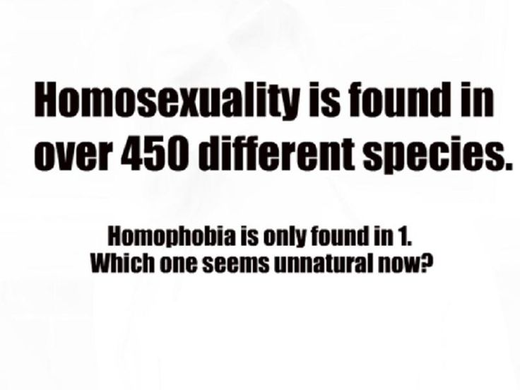 Homosexuality or Homophobia. Which one is really unnatural?
