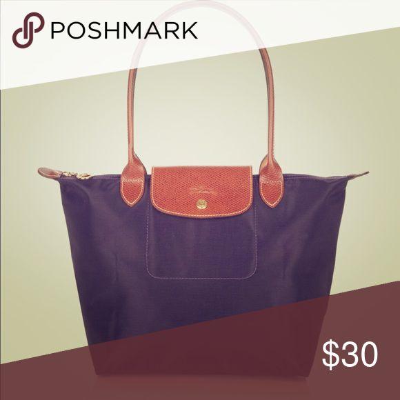 Longchamp le Pliage Medium nylon tote Medium purple tote bag Longchamp Bags Totes