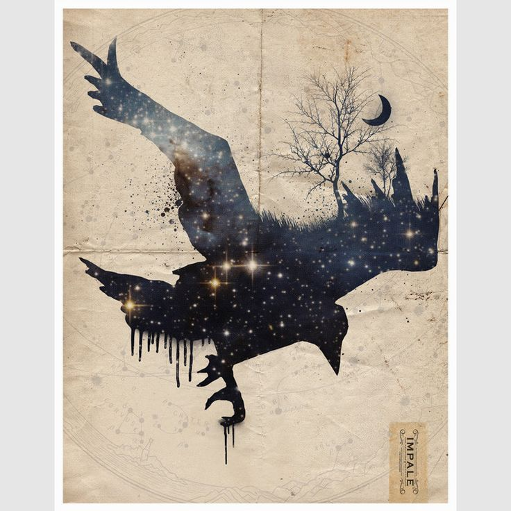 Space Raven | 11 in. x 14 in. print on 100lb card stock by Impale Design (The Artwork of Billy Ludwig)