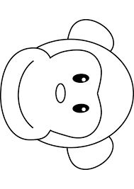 Image result for monkey outline drawings for kids