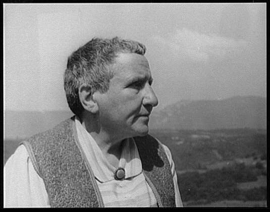 Gertrude Stein was a writer and out lesbian who lived her life with Alice. B. Toklas 1874-1946. She was an avant-garde writer and poet, the center of a circle of artists and writers living in or visiting Paris.