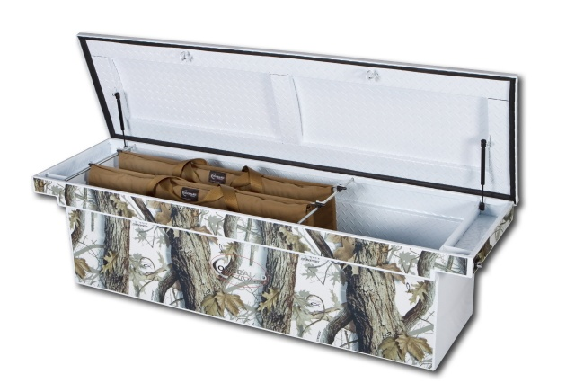 The coolest truck box ever!  Durable, patented, long lasting coating with a fantastic camo pattern.  Looks great in any truck bed! http://www.concealedoutdoors.com/God_s_Country_Camo.html
