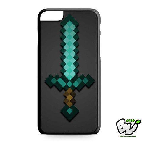 Minecraft Green Mint Sword iPhone 6 Plus | iPhone 6S Plus Case
