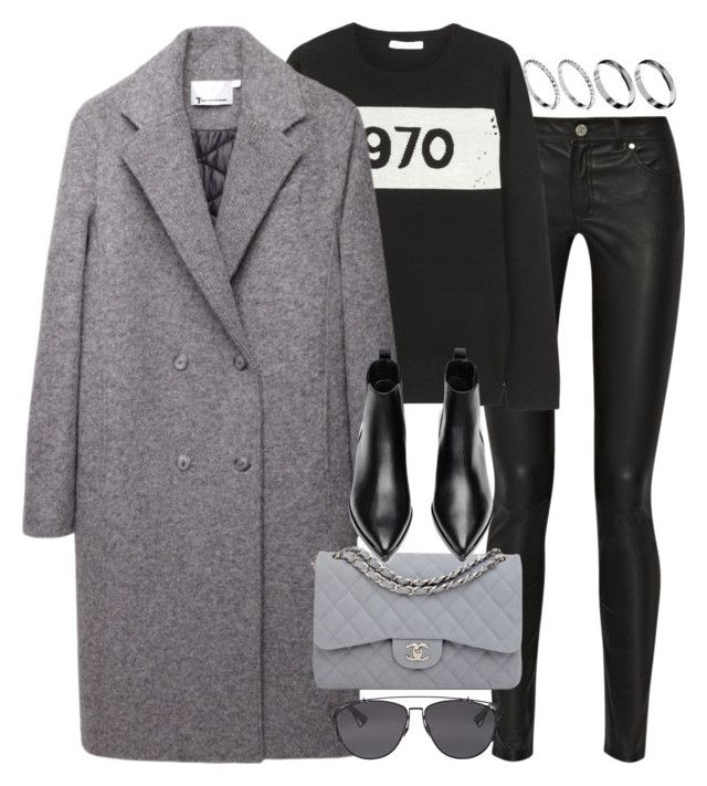 """""""Untitled #7225"""" by nikka-phillips ❤ liked on Polyvore featuring ASOS, Acne Studios, Bella Freud, T By Alexander Wang, Chanel and Christian Dior"""