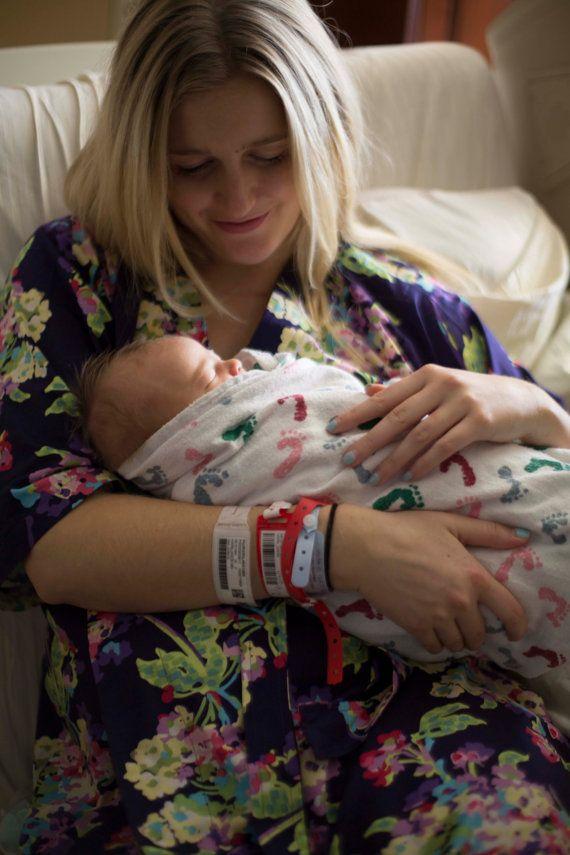 Maternity Robe. Hospital Robe. Nursing Robe. by ModernKimonoRobes