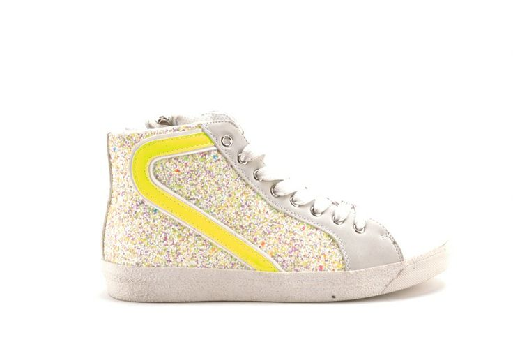 Scarpe Donna GOLD AND GOLD Sneakers donna con paillettes bianco giallo