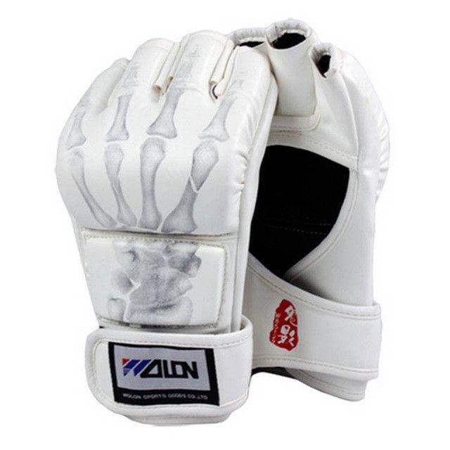 MMA Muay Thai Kick Boxing Gloves Half Fighting Boxing Gloves Competition Training Gloves guantes de boxeo