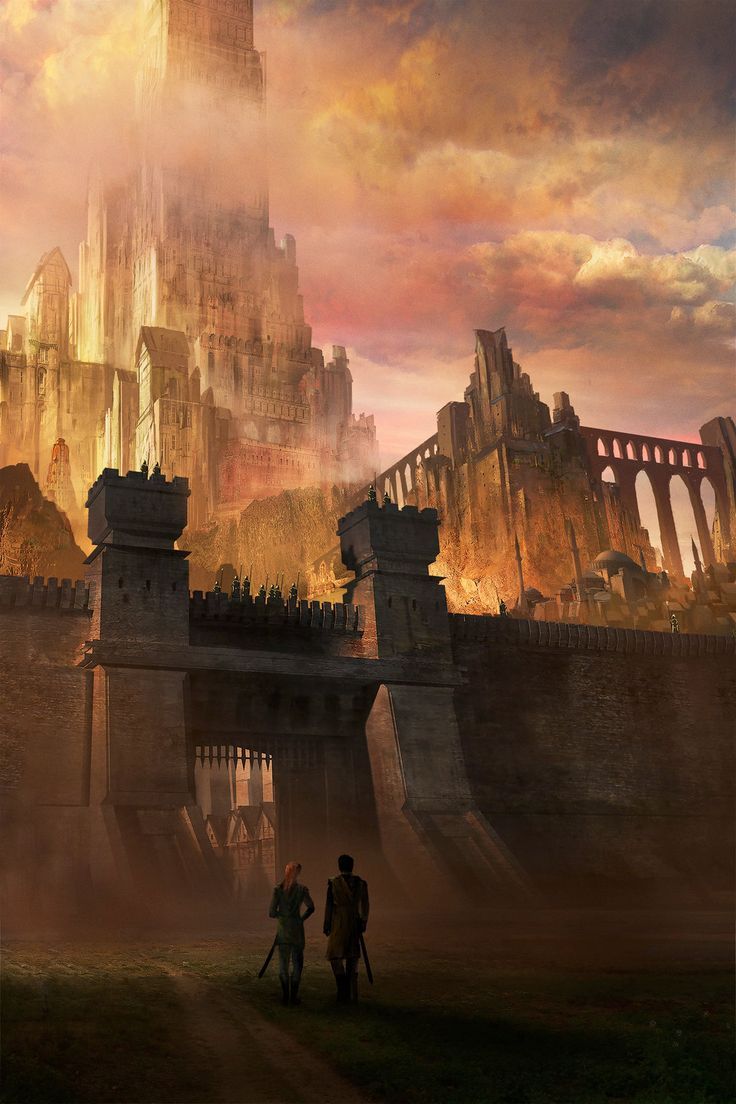 "Fantasy Castle Gate by jbrown67.deviantart.com on @DeviantArt -""I thought it'd be bigger."""