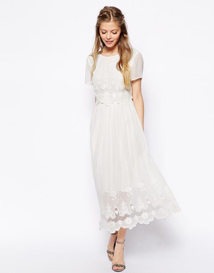 ASOS Vintage Midi Dress With Cutwork + Overlay Top