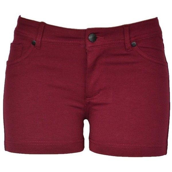 143Fashion Junior's Stretchy Shorts ($6.50) ❤ liked on Polyvore featuring shorts, bottoms, stretchy shorts and stretch shorts