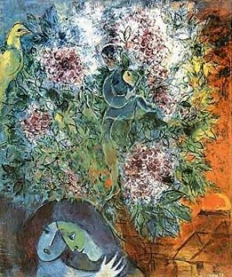 chagall prints | Evening Enchantment by Marc Chagall Art Print - WorldGallery.co.uk