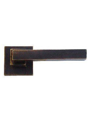 PAAR DEURKLINK MG2032 DONKER BRONS (DB) zonder BB - Dauby deurbeslag & raambeslag