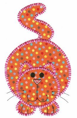 Fat Cat Applique ~ Crazy Cat Appliques, a collection of 12 crazy cats.