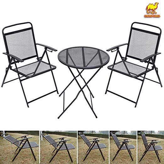 Bistro Set Patio Set Table And Chairs Outdoor Wrought Iron Cafe Set