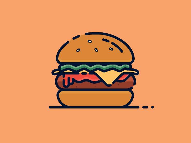 Burger by Elliot Belchatovski #Design Popular #Dribbble #shots