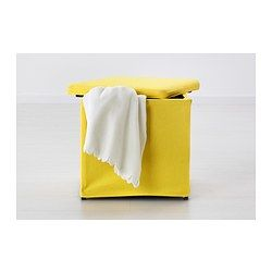 BOSNÄS Footstool with storage - Ransta yellow - IKEA $15 http://www.ikea.com/us/en/catalog/products/20266701/#/80266699