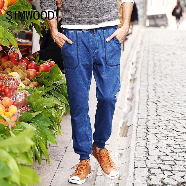 SIMWOOD 2016 otoño invierno moda Pantalones Hombres Pantalones Deportivos causal pantalones largos de algodón KW3002