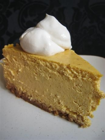 Easy, no bake pumpkin cheesecake. Substitute Splenda blend for sugar and use reduced fat cream cheese to cut back on calories