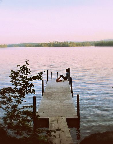 ohhhh yes, this is how I want to end the day! Maybe I jump from this pontoon and take a swim ;-): Summer Evening, Quiet Time, Lake Life, Pier, Things, Squam Lake, Place
