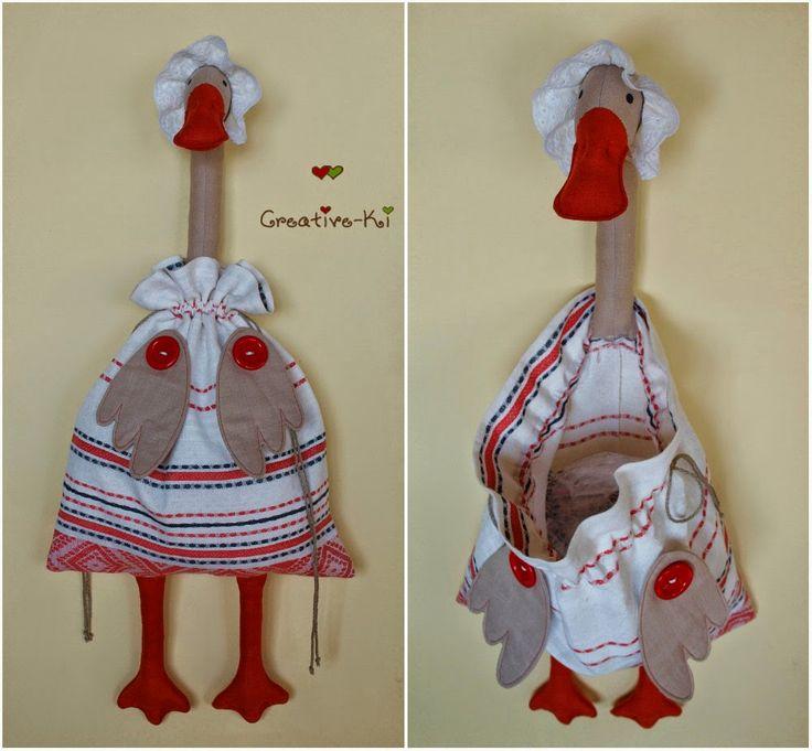 Creative-Ki: Goose-bag 4 /Гусыня-пакетница.