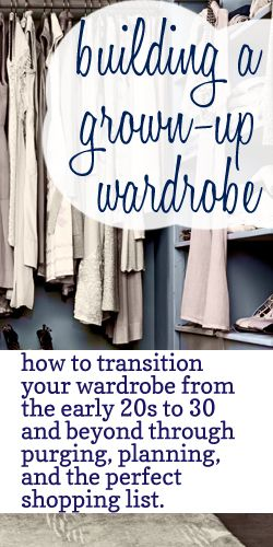 Building a wardrobe :: How to start the journey toward a closet full of things you love by purging, planning, and the perfect shopping list.