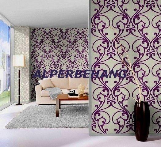 wit paars barok glitter vlies behang rasch glamur | GLITTER BEHANG | ALPERBEHANG de grootste behangwinkel van nederland direct uit voorraad leverbaar